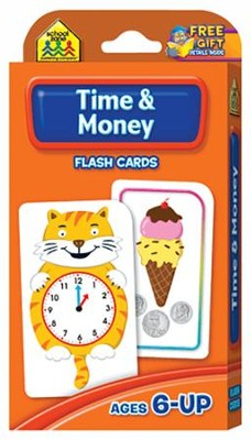 Time & Money, Math Flash Cards  -