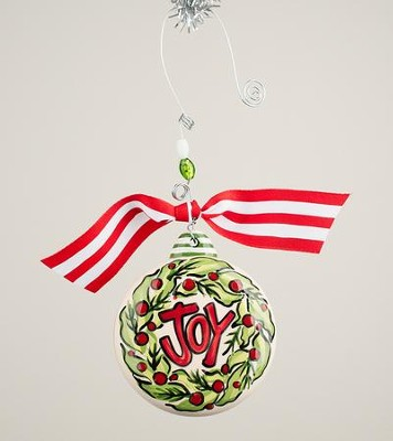 Joy Wreath Puff Ornament  -