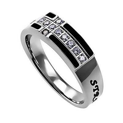 Strength, Ensign Ring Black, Size 8   -