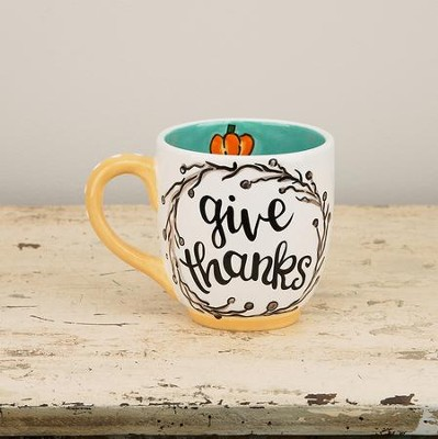 Give Thanks Jumbo Mug  -