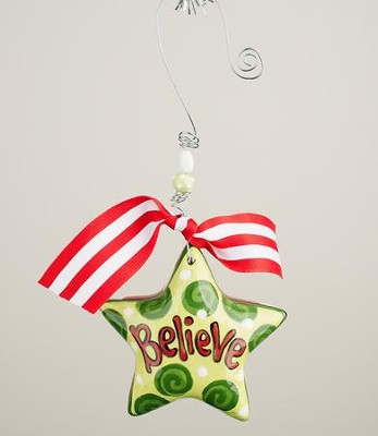 Believe Star Puff Ornament  -