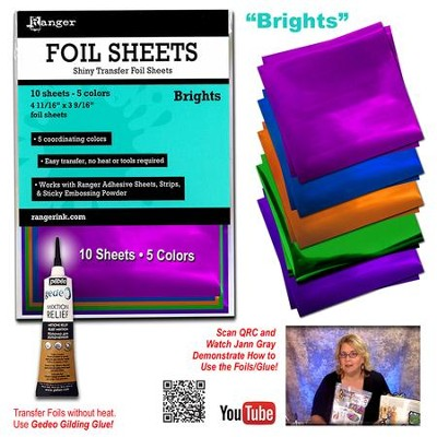 Transfer Foil Sheets, Brights  -