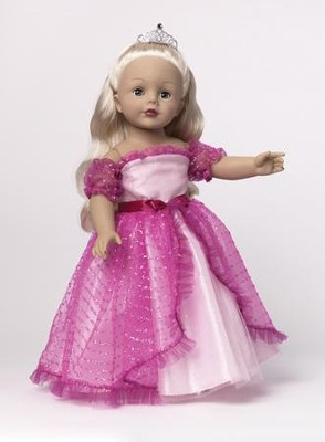 Princess Doll with Tiara, Pink  -