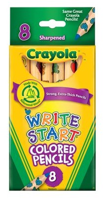 Crayola, Write Start Colored Pencils, 8 Pieces  -