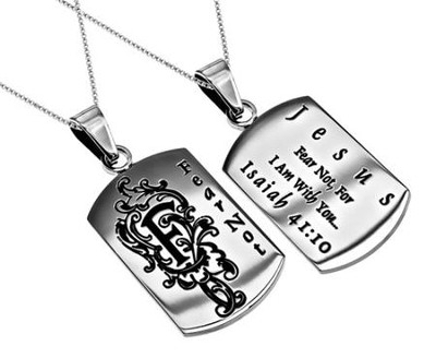 Fear Not, Letter Dog Tag   -