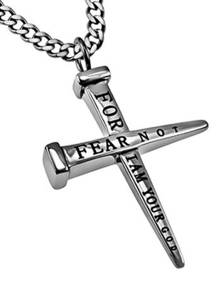 Fear Not Nail Cross Necklace  -