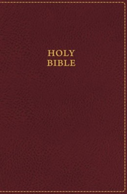 KJV UltraSlim Bible--soft leather-look, burgundy (indexed)  -