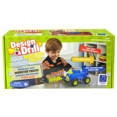 Design & Drill, Power Play Vehicles Monster Truck  -