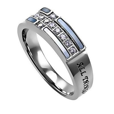 Ensign Ring, All Things Through Christ My Strength, Size 5  -