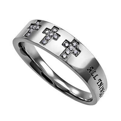 Christ My Strength, Calvary Ring, Size 9   -