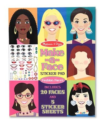 Make-a-Face, Fashion Faces, Sticker Pad  -