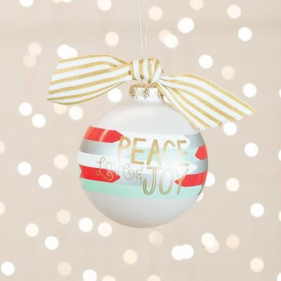 Peace, Love, and Joy Ornament  -