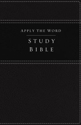 NKJV Apply the Word Study Bible--soft leather-look, black   -