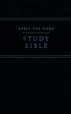 NKJV Apply the Word Study Bible--soft leather-look, black (indexed)   -