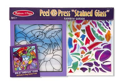 Rainbow Garden, Stained Glass, Peel and Press Stickers By Number  -