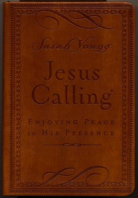 Jesus Calling, Deluxe Edition--soft leather-look, brown  -     By: Sarah Young
