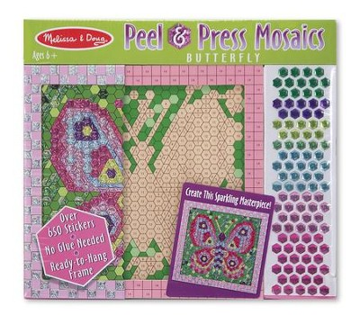 Peel and Press Sticker by Number, Butterfly  -