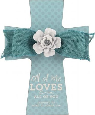 All Of Me Loves All Of You Cross, Turquoise  -