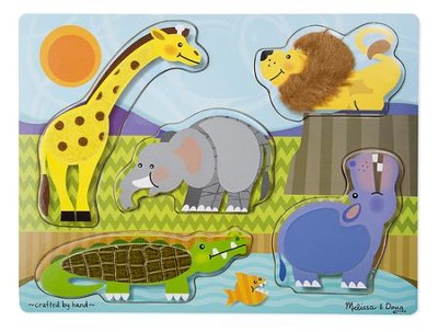 Zoo Animals Touch and Feel Puzzle  -