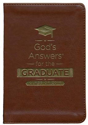 NKJV God's Answers for the Graduate: Class of 2016, Brown  -     By: Jack Countryman