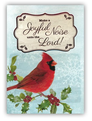 Peace, Love, Joy, Handmade Christmas Cards with Cardinal, Box of 12  -