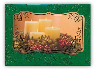 Candles, Handmade Christmas Cards, Box of 12  -