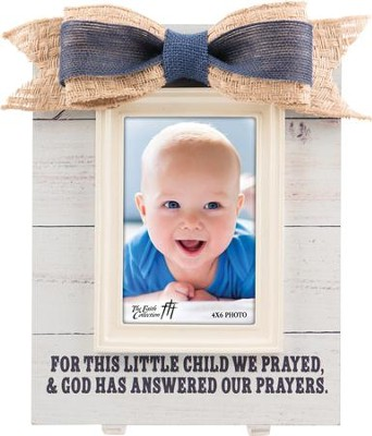 For This Child We Prayed, Baby Boy Frame with Bow  -