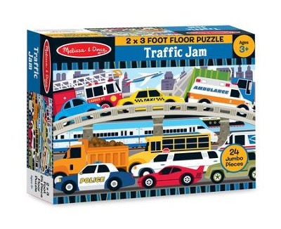 Traffic Jam, Floor Puzzle, 24 Pieces  -
