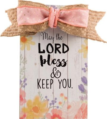 May the Lord Bless and Keep You Wall Plaque  -