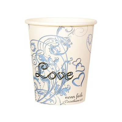 Love Never Fails Cups, Pack of 10  -