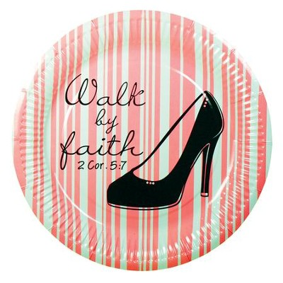 Walk by Faith Paper Plates, Pack of 10  -