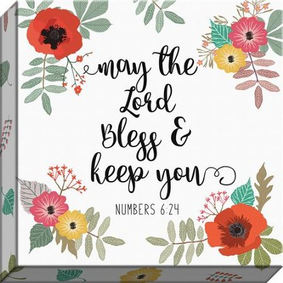 May the Lord Bless & Keep You, Numbers 6:24, Canvas Print  -