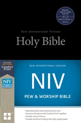 NIV Pew and Worship Bible--hardcover, black  -