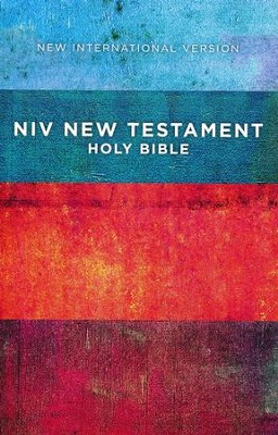 NIV Outreach New Testament--softcover, red/blue stripes  -