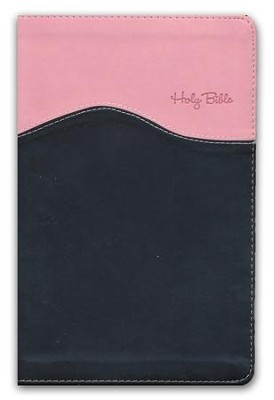 NIV Gift Bible--imitation leather, pink/brown (indexed)  -     By: Zondervan