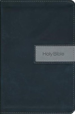NIV Gift Bible--imitation leather, black/gray (indexed)  -     By: Zondervan