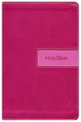 NIV Gift Bible--imitation leather, pink (indexed)  -     By: Zondervan