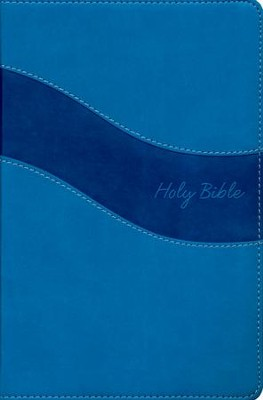 NIV Gift Bible--imitation leather, blue (indexed)  -     By: Zondervan