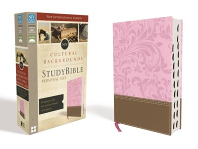 NIV, Cultural Backgrounds Study Bible, Personal Size, Imitation Leather, Pink and Brown, Thumb Indexed  -     Edited By: Craig S. Keener, John H. Walton