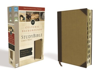 NIV, Cultural Backgrounds Study Bible, Large Print, Imitation Leather, Tan, Thumb Indexed  -     Edited By: Craig S. Keener, John H. Walton