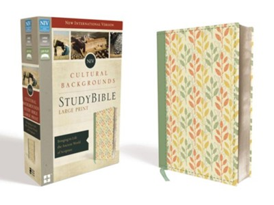 NIV, Cultural Backgrounds Study Bible, Large Print, Imitation Leather, Green  -     Edited By: Craig S. Keener, John H. Walton