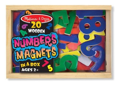 Magnetic Wooden Numbers  -