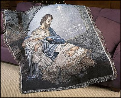 Nativity, Let Us Adore Him, Throw  -