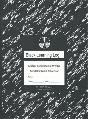 Black Learning Log Formatted for Spell to Write and Read  -