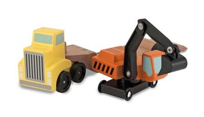 Trailer and Excavator Play Set  -