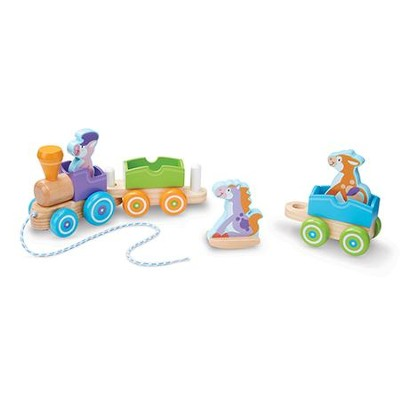 Rocking Farm Animals Pull Train  -