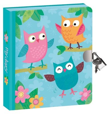 Owls, Lock and Key Diary  -