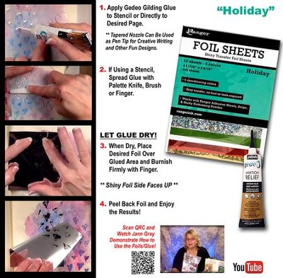 Transfer Foil Sheets, Holiday  -
