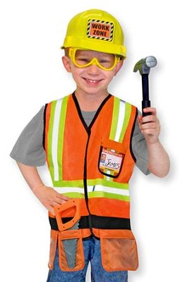 Construction Worker, Play Costume Set  -