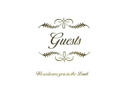 Any Occasion Guest Book, white bonded leather   -     By: Gift